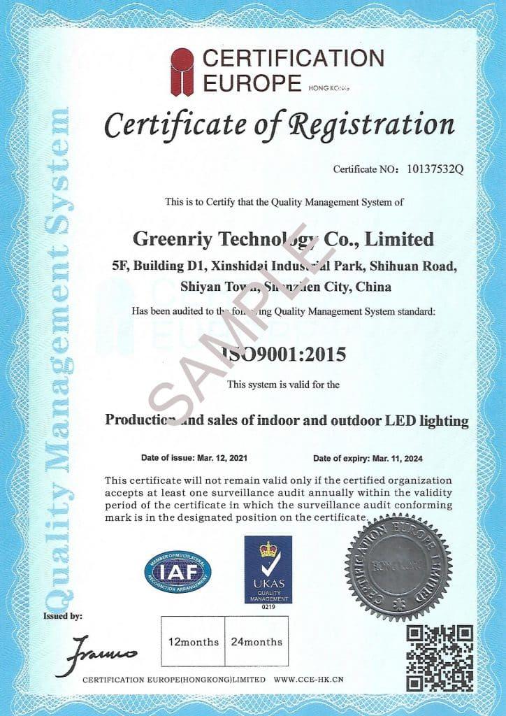 ISO ISO9001