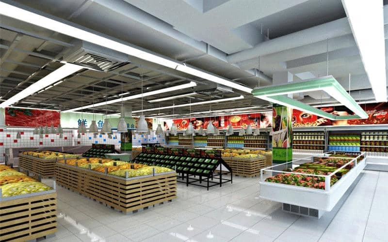 8ft (2400mm) for supermarket