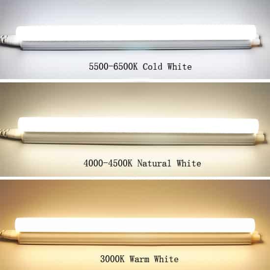 Color temperature choices for led batten light fixtures