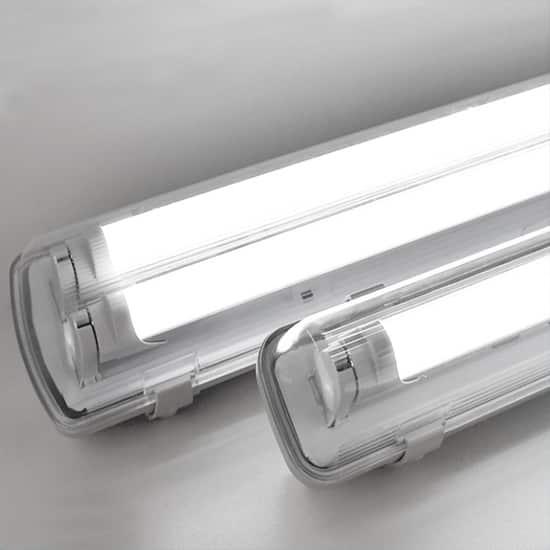 Emergency use waterproof LED batten Lights