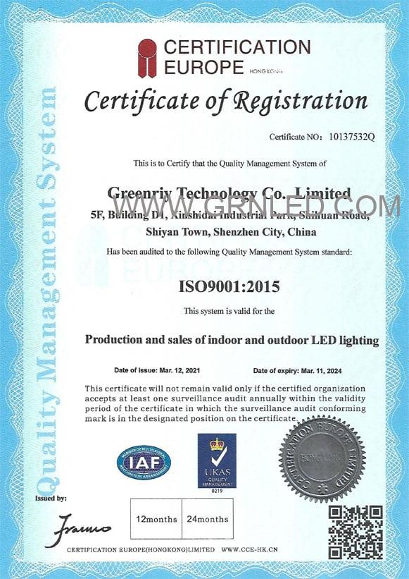 ISOISO9001-2015 Certificate9001-2015 Certificate
