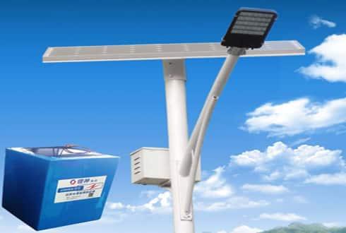 Batteries for solar street lights