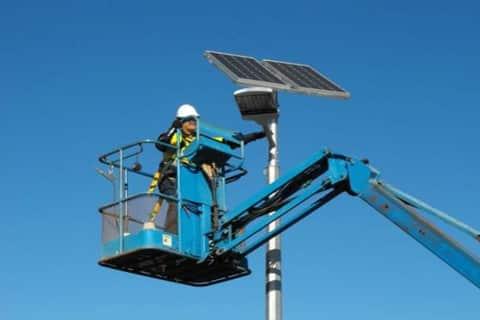 Repair of solar street lights